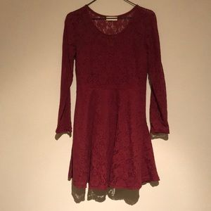 Red dress perfect for fall!